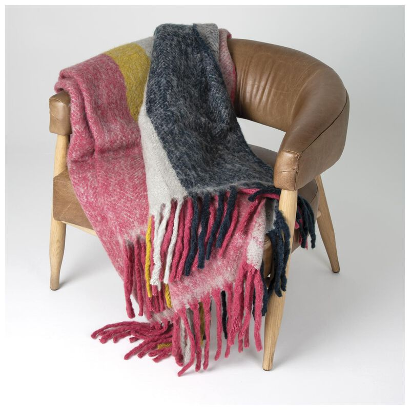Multi-Coloured Striped Throw -  assorted
