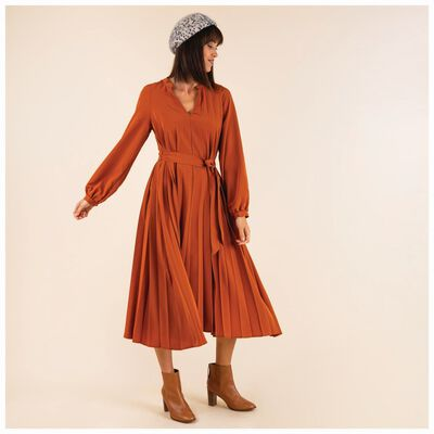 Ophealia Pleated Dress
