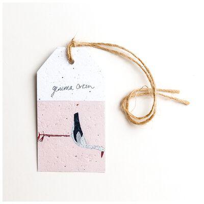 Gemma Orkin Pink Bird Tag