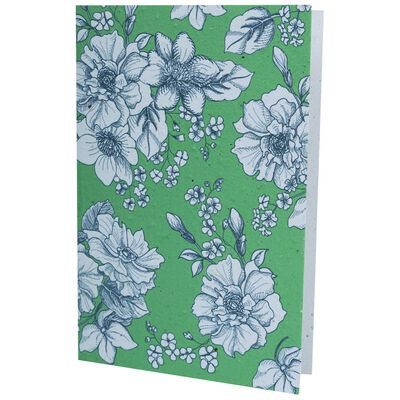 Growing Paper Green Floral Card
