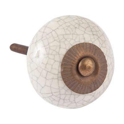 Round Crackle Knob