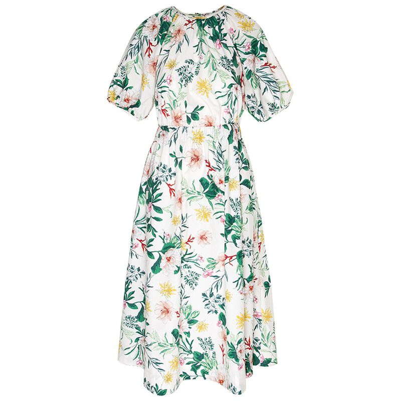 Harper Floral Dress -  green