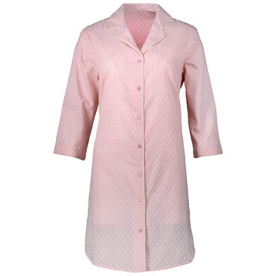 Swiss Dot Pink Sleep Shirt