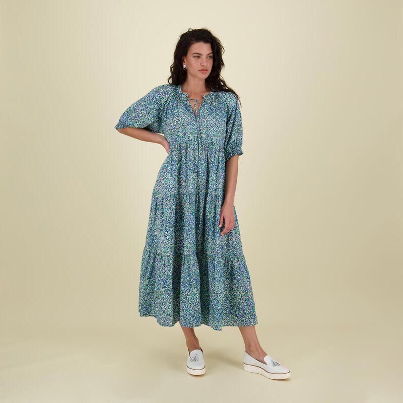 Nuha Printed Maxi Dress -  green