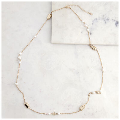 Satellite Pearl Necklace
