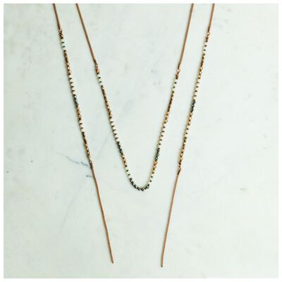 Delicate Beaded Lariat Necklace