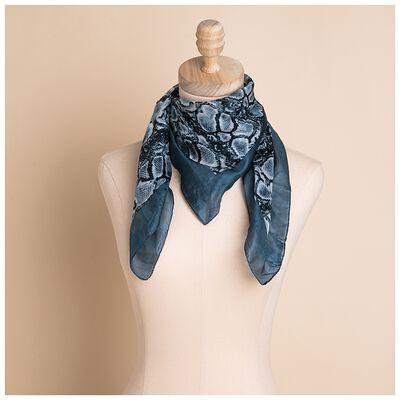 Zuri Silk Snakeskin Printed Skinny Scarf
