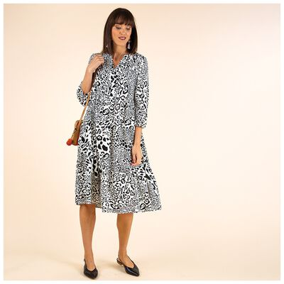 Alsabe Printed Tiered Dress