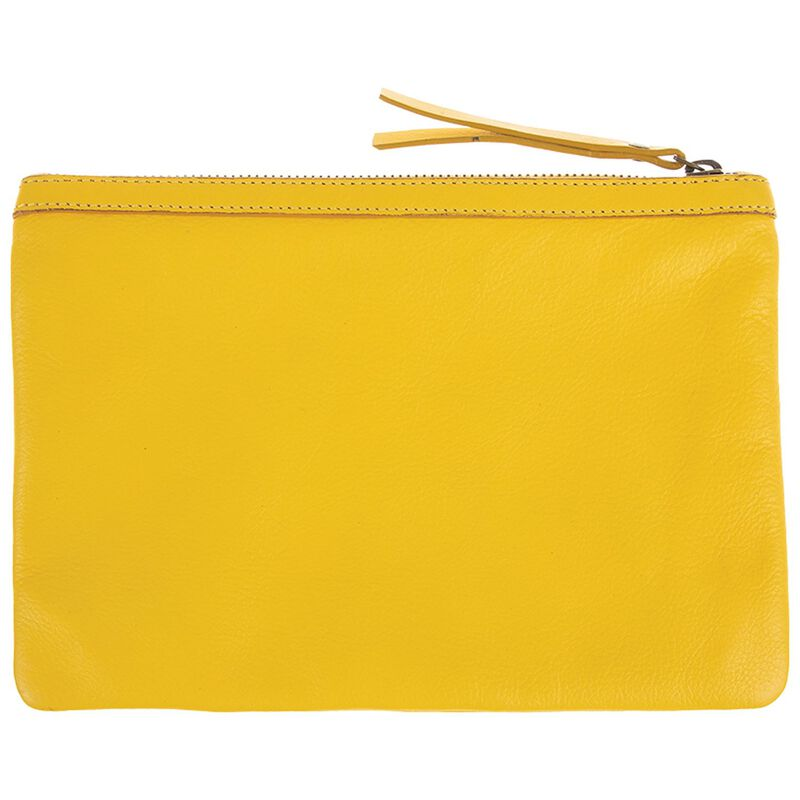 Taylor Leather Pouch -  yellow