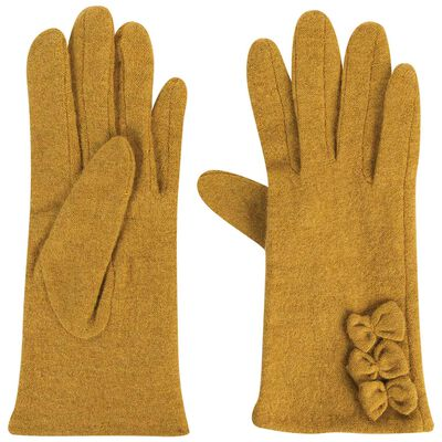 Anna May Wool Gloves with Bows
