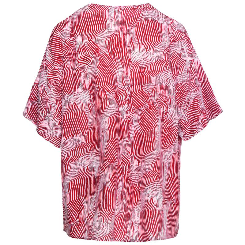 Erato Pop Over Blouse -  red