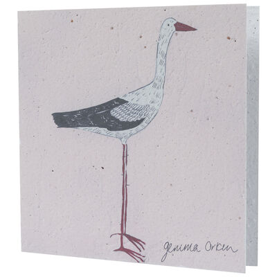 Gemma Orkin Pink Bird Card