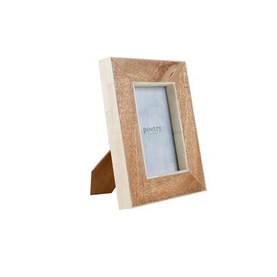 Wood with Bone Border Frame 4 x 6