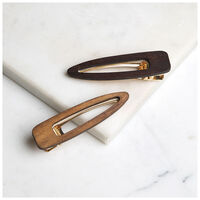 2-Pack Wooden Clips -  brown