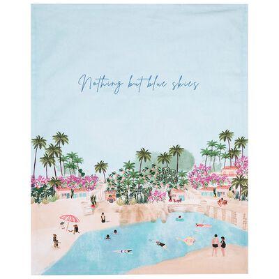 Blue Skies Tea Towel