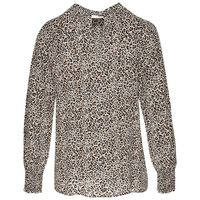 Lynne Animal Print Blouse -  stone