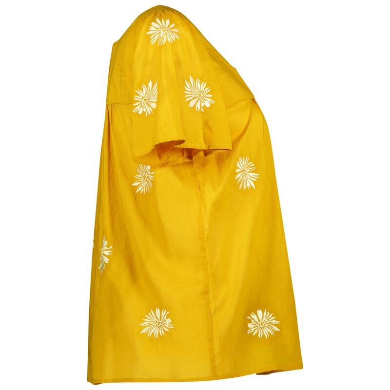 Emma Embroidered Top -  yellow