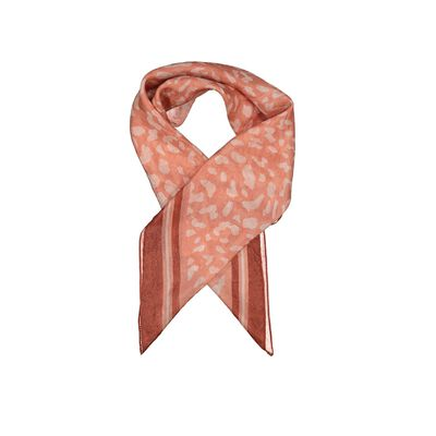 Aleah Silk Animal Print Scarf