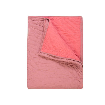 Guava Two-Toned Quilted Throw