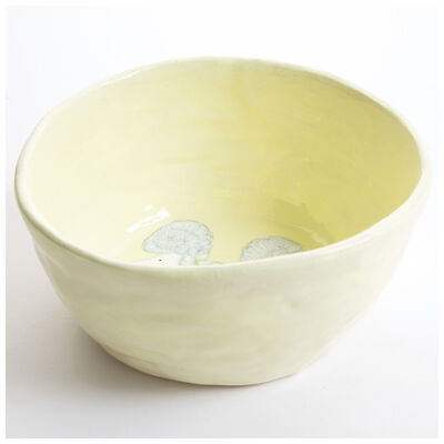 Gemma Orkin Pale Yellow Poodle Dog Medium Bowl