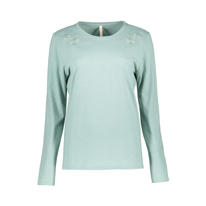 Rare Earth Women's Bijou Embriodered T-Shirt -  sage