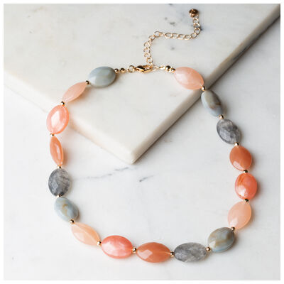 Facet Bead Strand Necklace