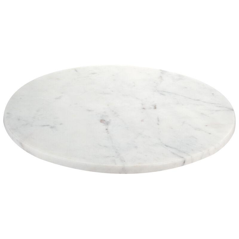 White Marble Lazy Susan -  white