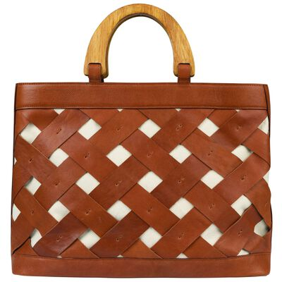 Luciana Basket Weave Leather Bag