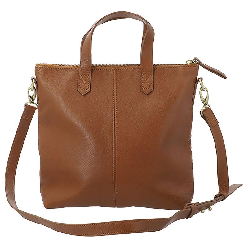 Colene Woven Leather Small Shopper Bag -  tan