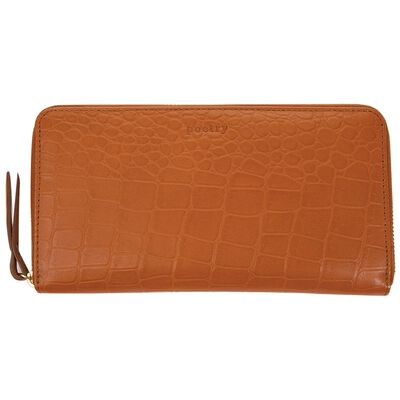 Heidi Croc Embossed Leather Wallet