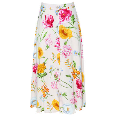 Joy Button Through Skirt