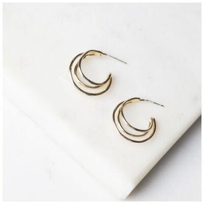 Small Multi-Layered Hoop Earrings