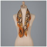 Rebekah Snake Print Neckerchief -  yellow