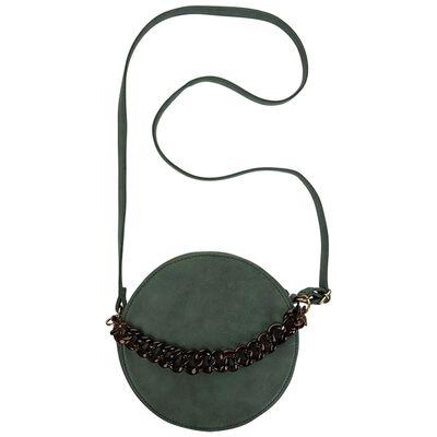 Maite Round Vegan Leather Cross Body Bag