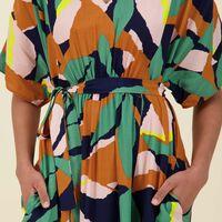 Jules Printed Dress -  orange