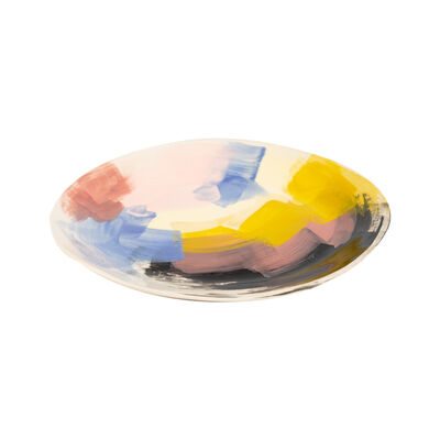 Wonki Ware Sunbaked Abstract Platter