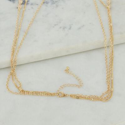 Multi-Layered Teardrop Disk Necklace