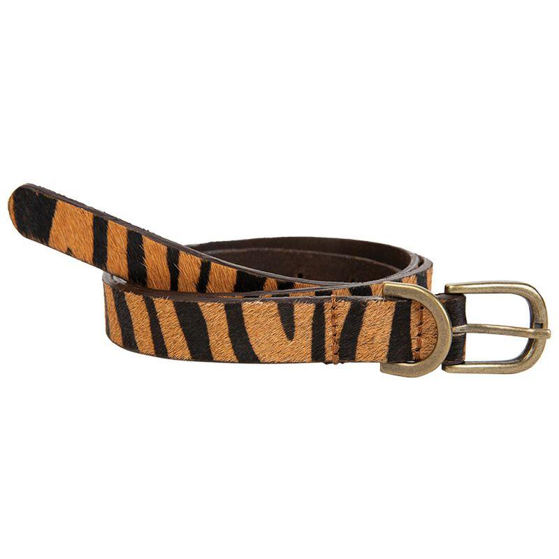Ally Hair-On Skinny Belt -  brown