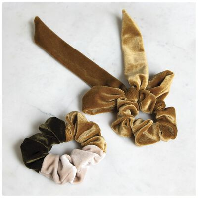 Velvet Scrunchie 2-Pack Set