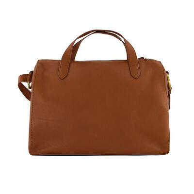Ariella Leather Bowler Bag