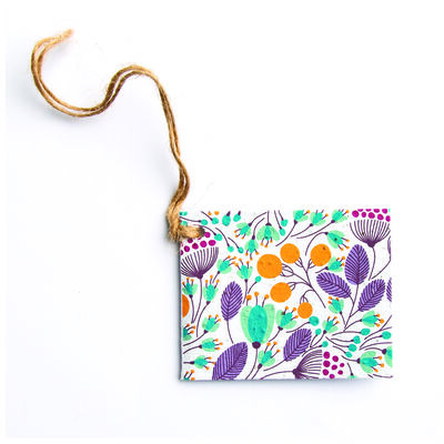 Growing Paper Blossom Tag