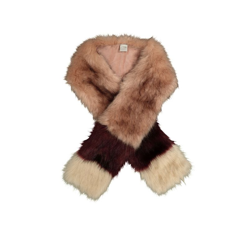 Faith Colour Blocked Faux Fur -  pink-berry