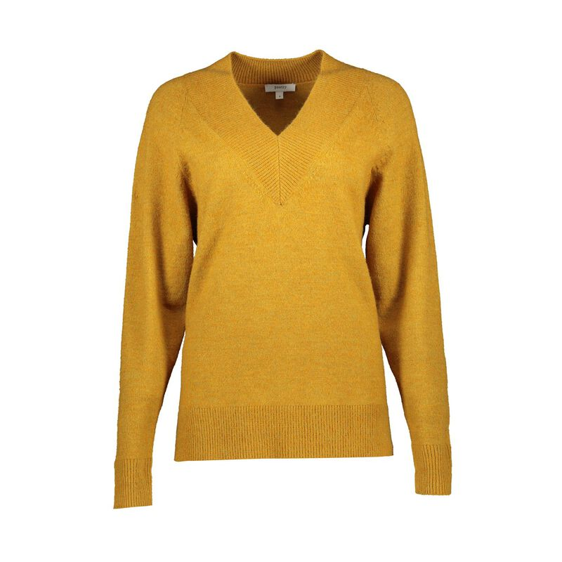 Cathy V-Neck Sweater -  ochre