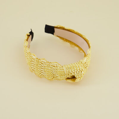 Riona Straw Textured Alice Band