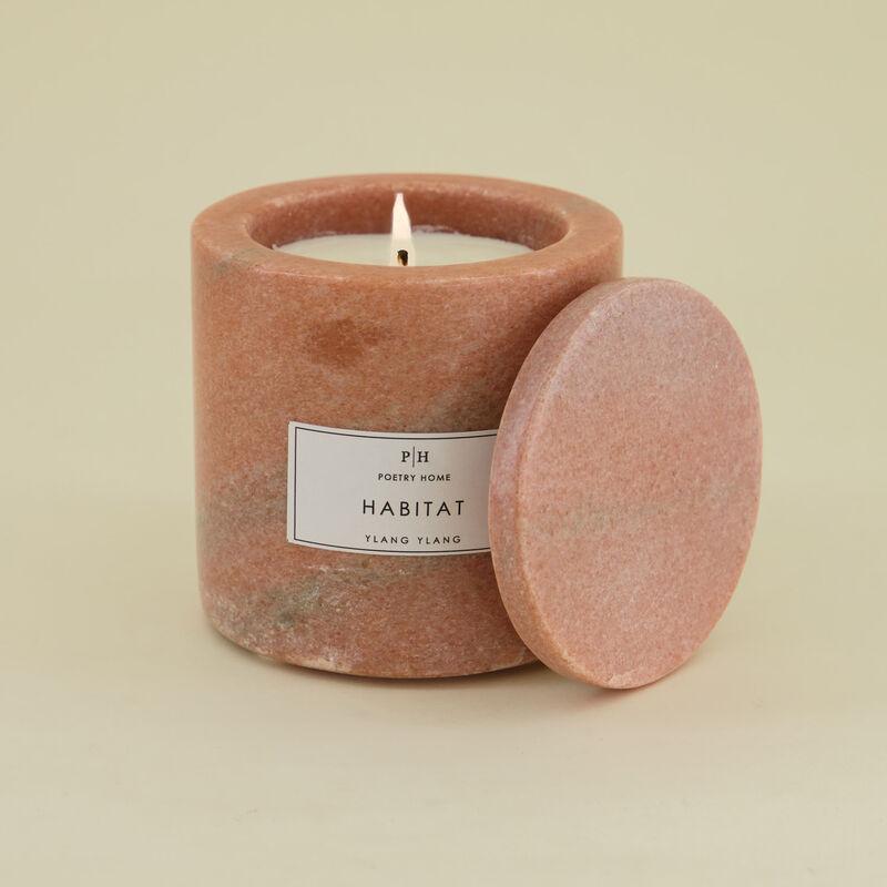 Pink Marble Votive Ylang Ylang Candle -  pink
