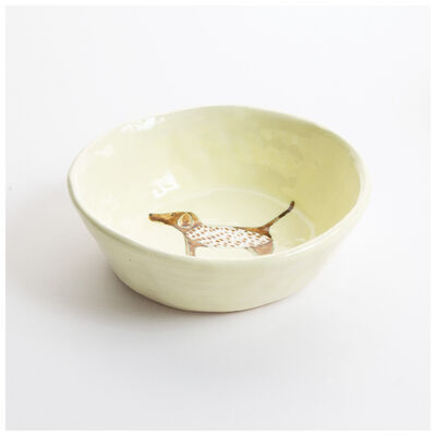 Gemma Orkin Pale Yellow Pointer Dog Snack Bowl