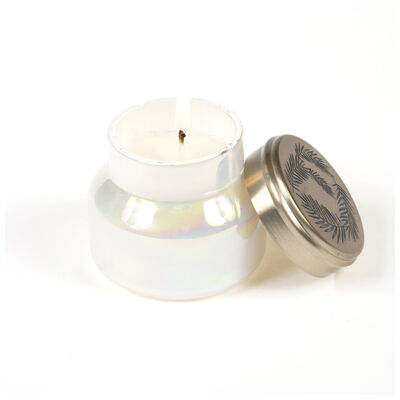 Candle in Pearlized Jar