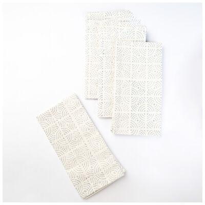 Grey Grid Napkin Set
