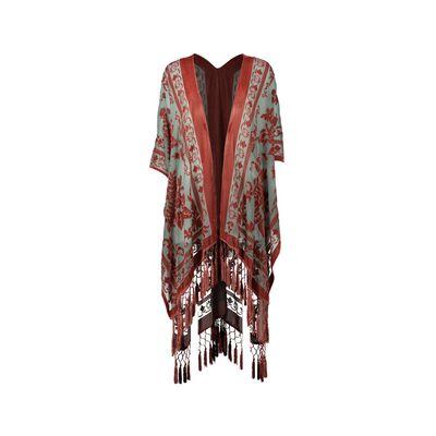 Arielle Burn-out Velvet Kimono