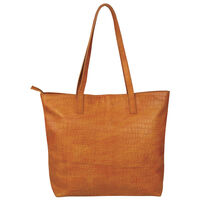 Nathaly Leather Tote Bag -  tan